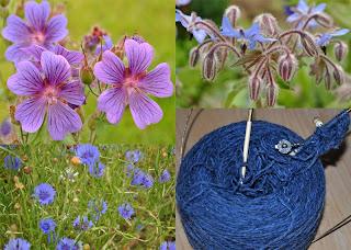 Blå farver i strikketøjet