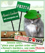 Jonesie Says Buy Renee&#39;s Seeds and use coupon code FR227A to support United Paws