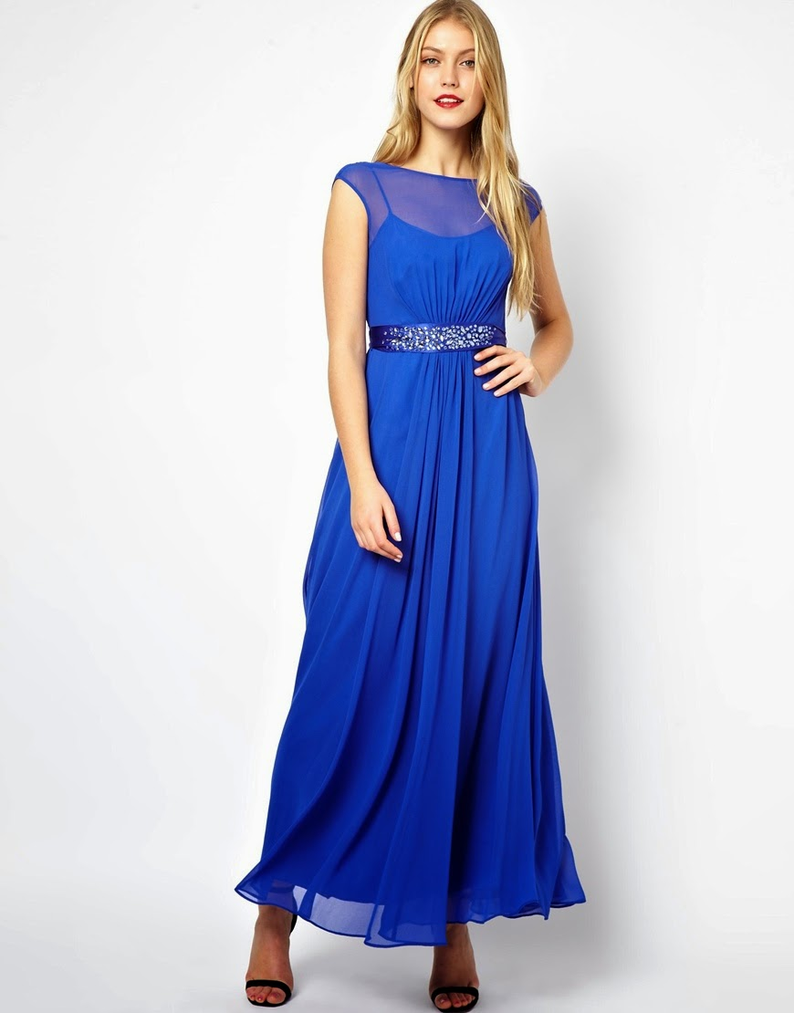 COAST blue maxi dress