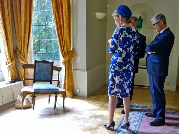Queen Mathilde Visits Belgian residence In The Hague