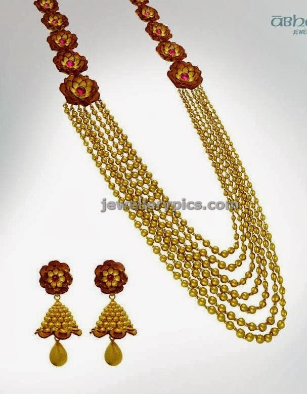 chandraharam design by azva collection from abharan jewellers
