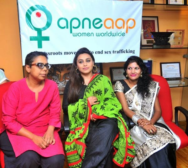 Rani Mukarjee visits anti-sex trafficking NGO