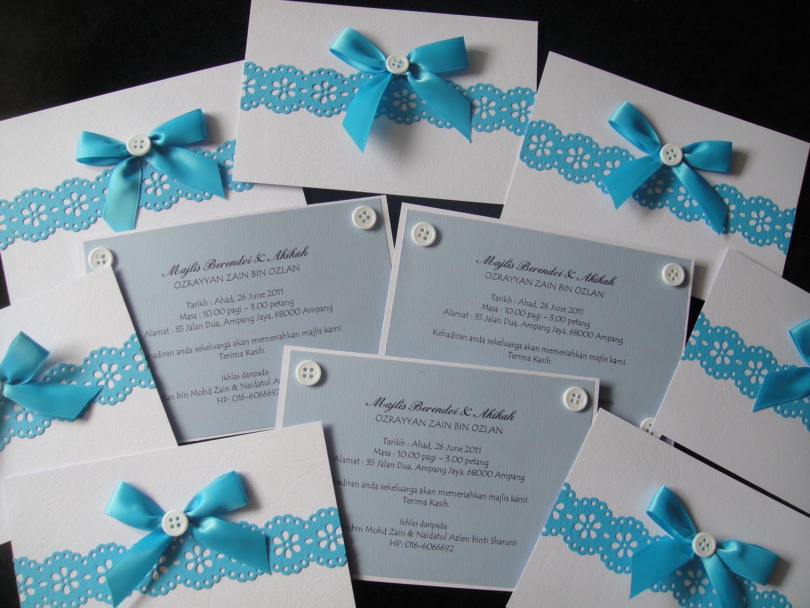 Dodie Sdesign Aqiqah Invitation Card