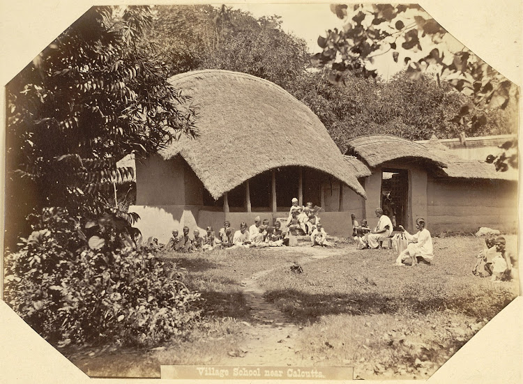 Village School near Calcutta (Kolkata), Bengal - c1860