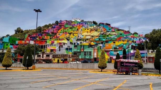 Palmitas, México, macro mural, grafiti, graffiti, arcoiris, Germen Crew