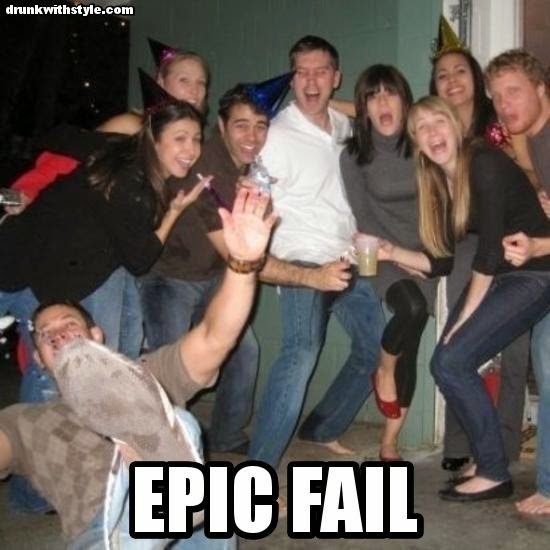 Epic Fail Funny Party Drunk Guy Falling