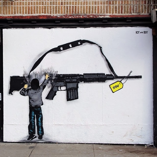 New Stencil Piece By Iranian Duo Icy & Sot In The Lower East Side Of New York City. 2