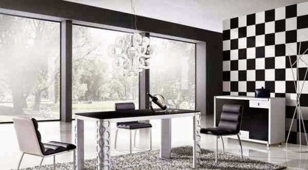 Modern Dining Room Designs Ideas For Furniture And Wall Decor In Black White