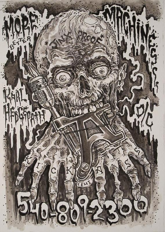 Tim lehi karl hedgepath machines nuff said for Zombie tattoo machine