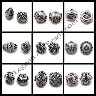 925 Sterling Silver Wholesale Carved Beads