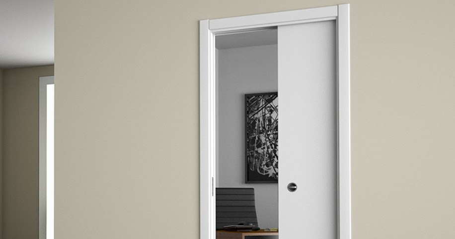 Arredamento di interni arredamento di interni case rendering porta interna scorrevole a - Porta scorrevole interna ...