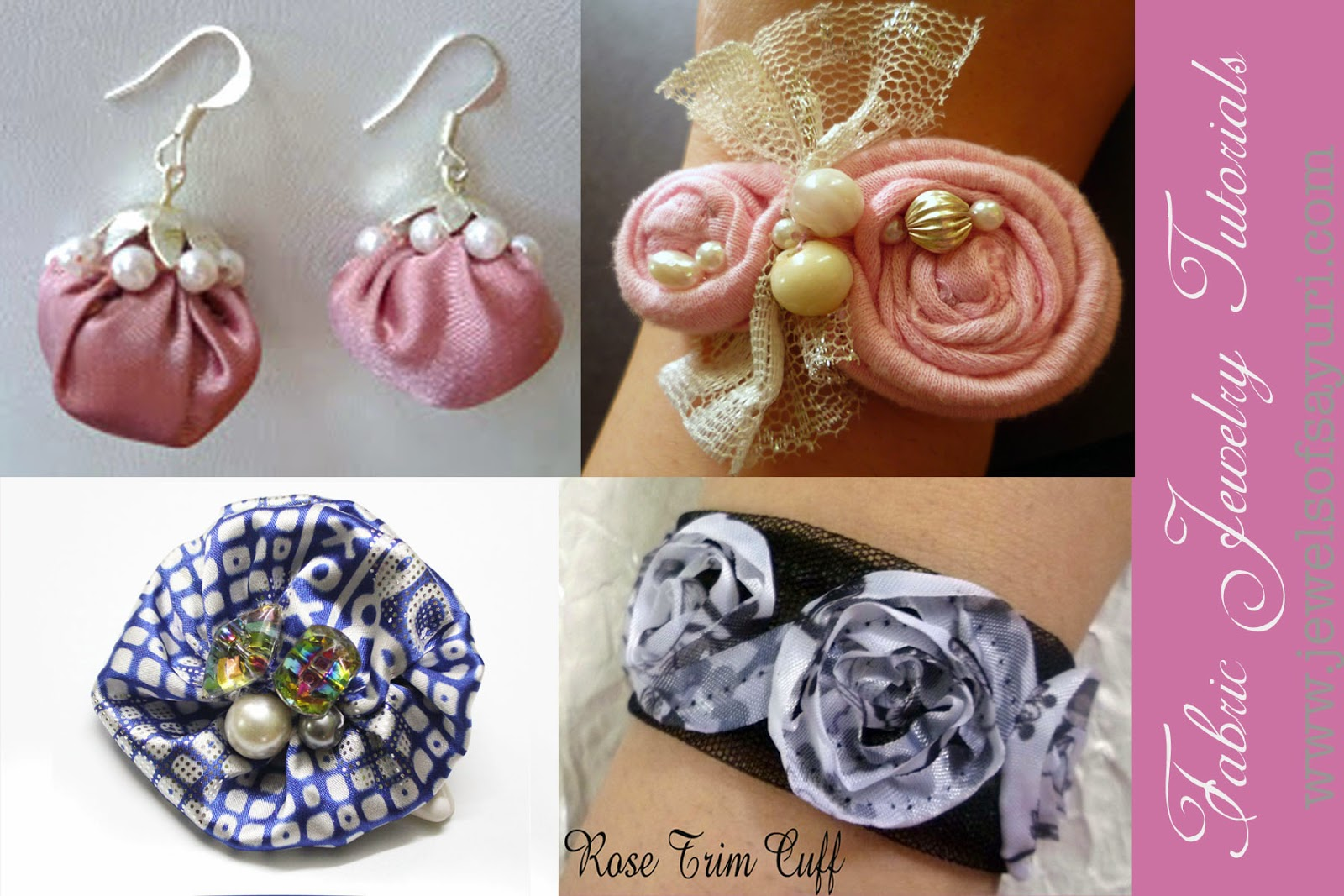 fabric jewelry tutorials by sayuri