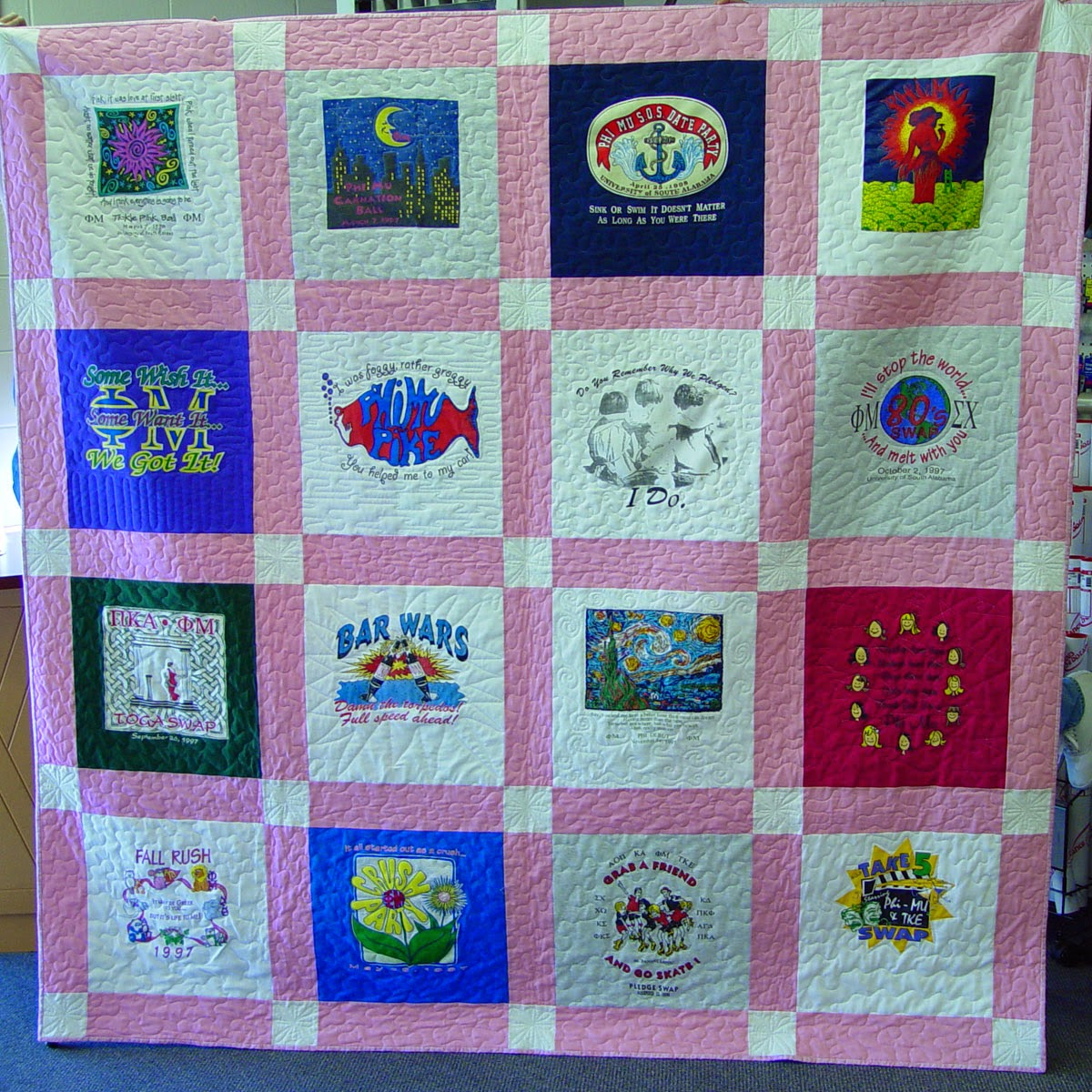 Quilting Designs For T Shirt Quilts : Quilt Style Options - Andrea Lynn HANDMADE