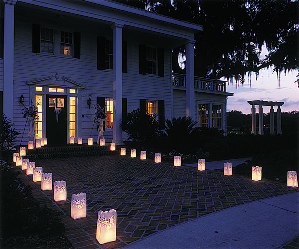 location with these Paper Lantern Wedding Luminaries from Weddingstar
