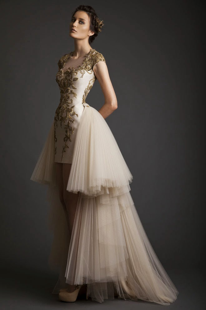 Bridal Gowns: Krikor Jabotain Spring Summer 2014 Bridal Collection