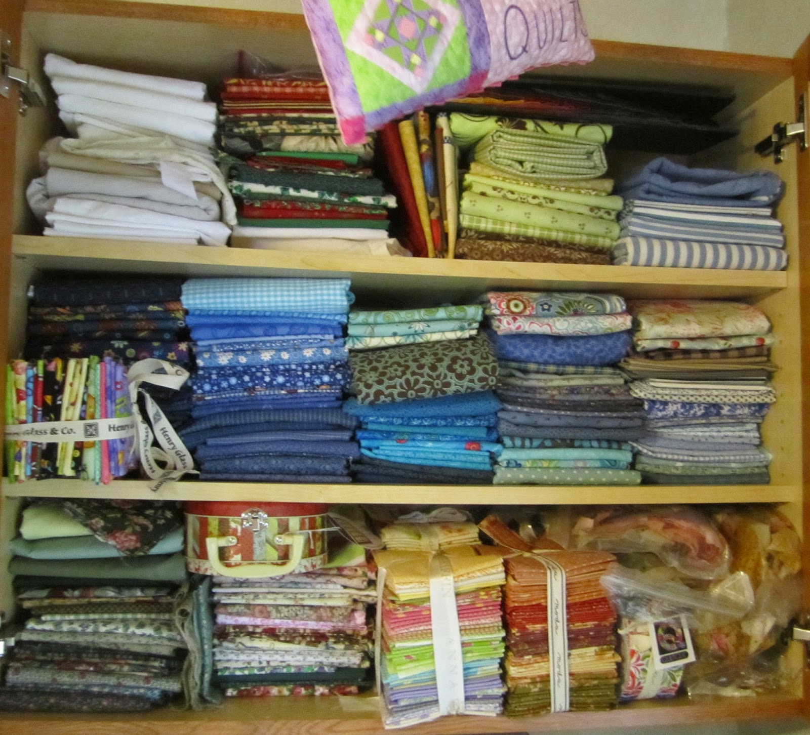 fabric storage, denise clason