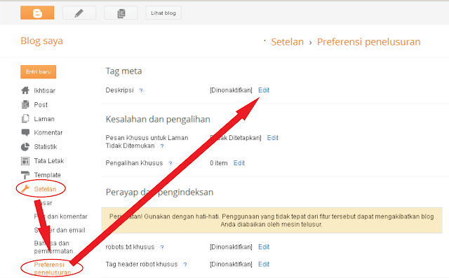 menambah meta tag untuk setiap artikel di blogspot