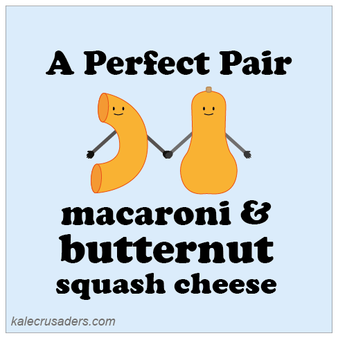 A Perfect Pair: macaroni & butternut squash cheese, vegan mac and cheese, vegan macaroni and cheese