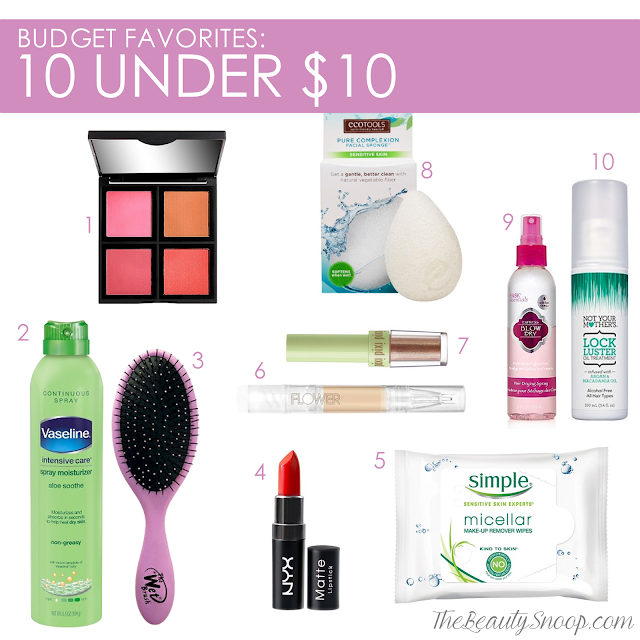 Budget friendly makeup- skincare- haircare all under $10