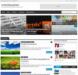 Extra News Responsive Template