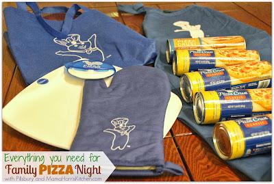it's family pizza night with pillsbury pizza crust!