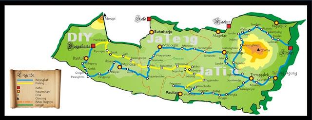 Peta Gerilya Jendral Soedirman