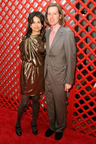 Wes Anderson with sexy, Girlfriend Juman Malouf