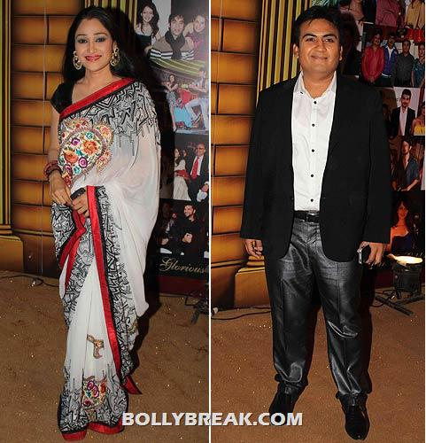 Disha Wakani and Dilip Joshi - (9) - Star Gold television awards 2012 Pics