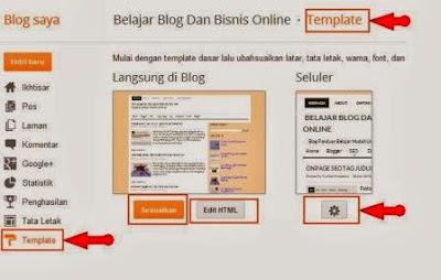 menu edit template blog