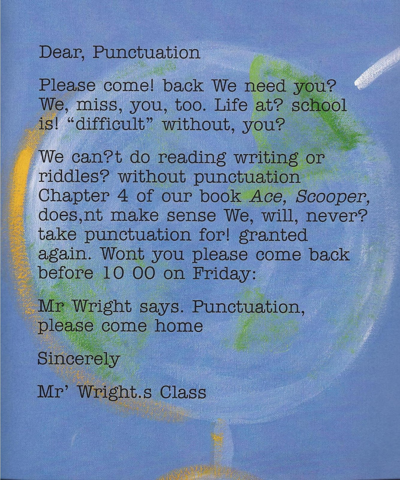 What punctuation would you use?