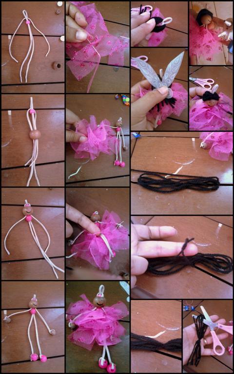 Como hacer una hada de tul con alas de papel y estambre for Como hacer una alberca paso a paso