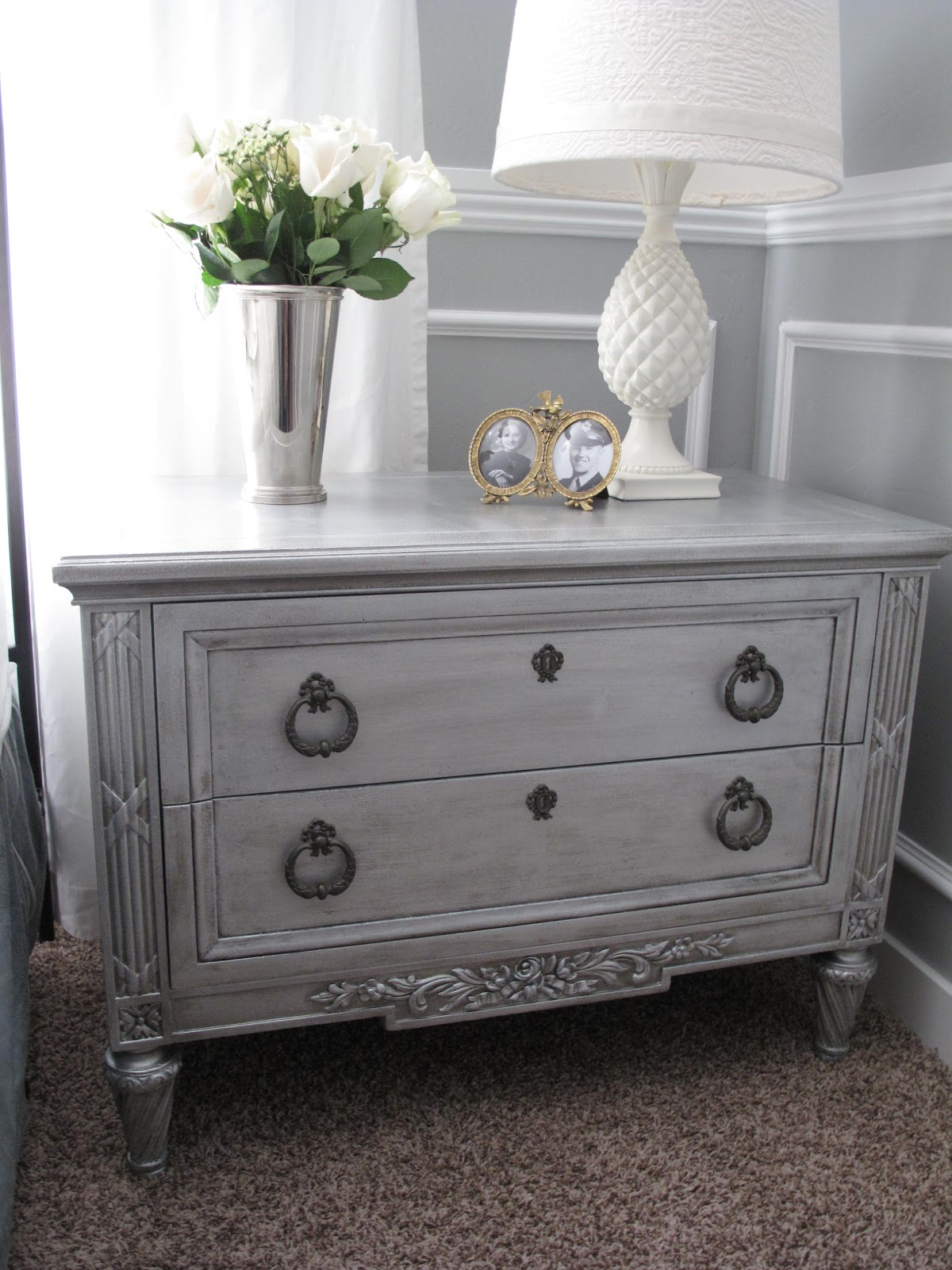 Silver Painted Bedroom Furniture Little Miss Penny Wenny Master Bedroom Makeover Reveal
