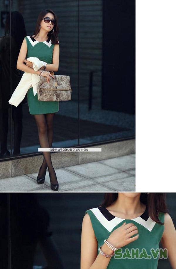 váy suông cổ búp bê 3096