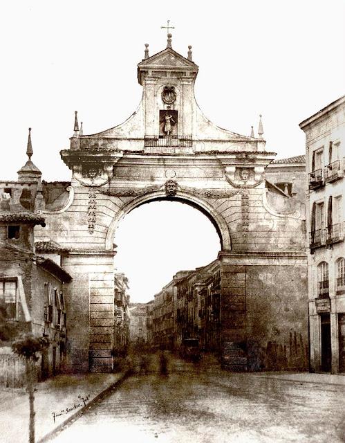 Arte en valladolid monumentos desaparecidos la puerta del campo o arco de santiago - Puertas en valladolid ...