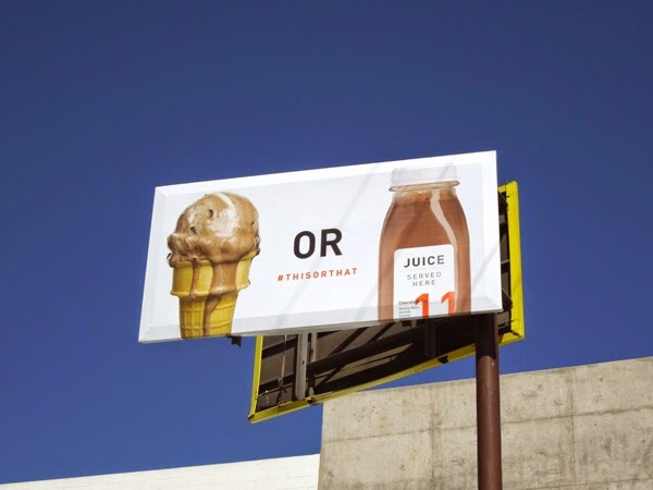 Ice-cream or Juice billboard