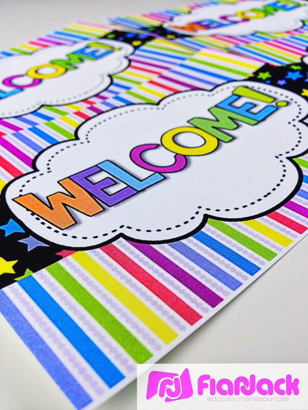 Classroom Decor Packs ~ Flapjack educational resources thank you gracias cards