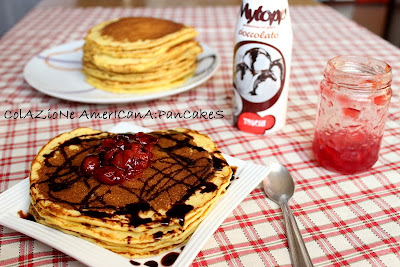 colazione americana:pancakes