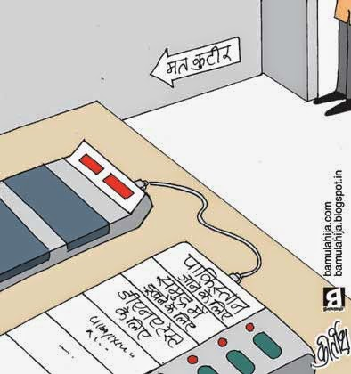 evm, election 2014 cartoons, election cartoon, cartoons on politics, indian political cartoon, voter