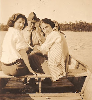Boat ride Helen Killeen Parker Portsmouth, Virginia about 1919-21