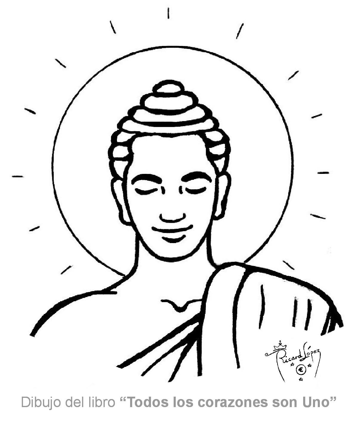 Dibujos muy originales para colorear de Ricard López: Dibujo de Buda
