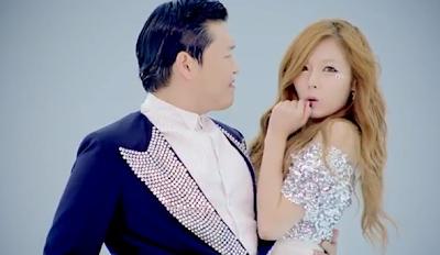 Gangnam Style Psy and Hyuna