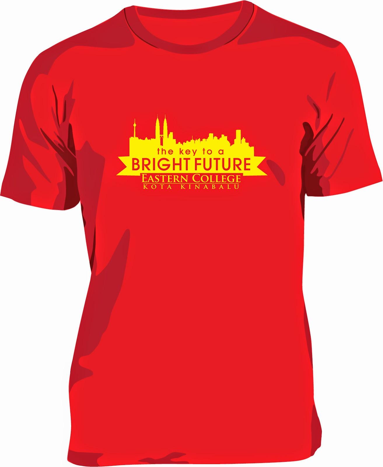 Design t shirt rewang - Cetakan 1 Warna Bahagian Depan