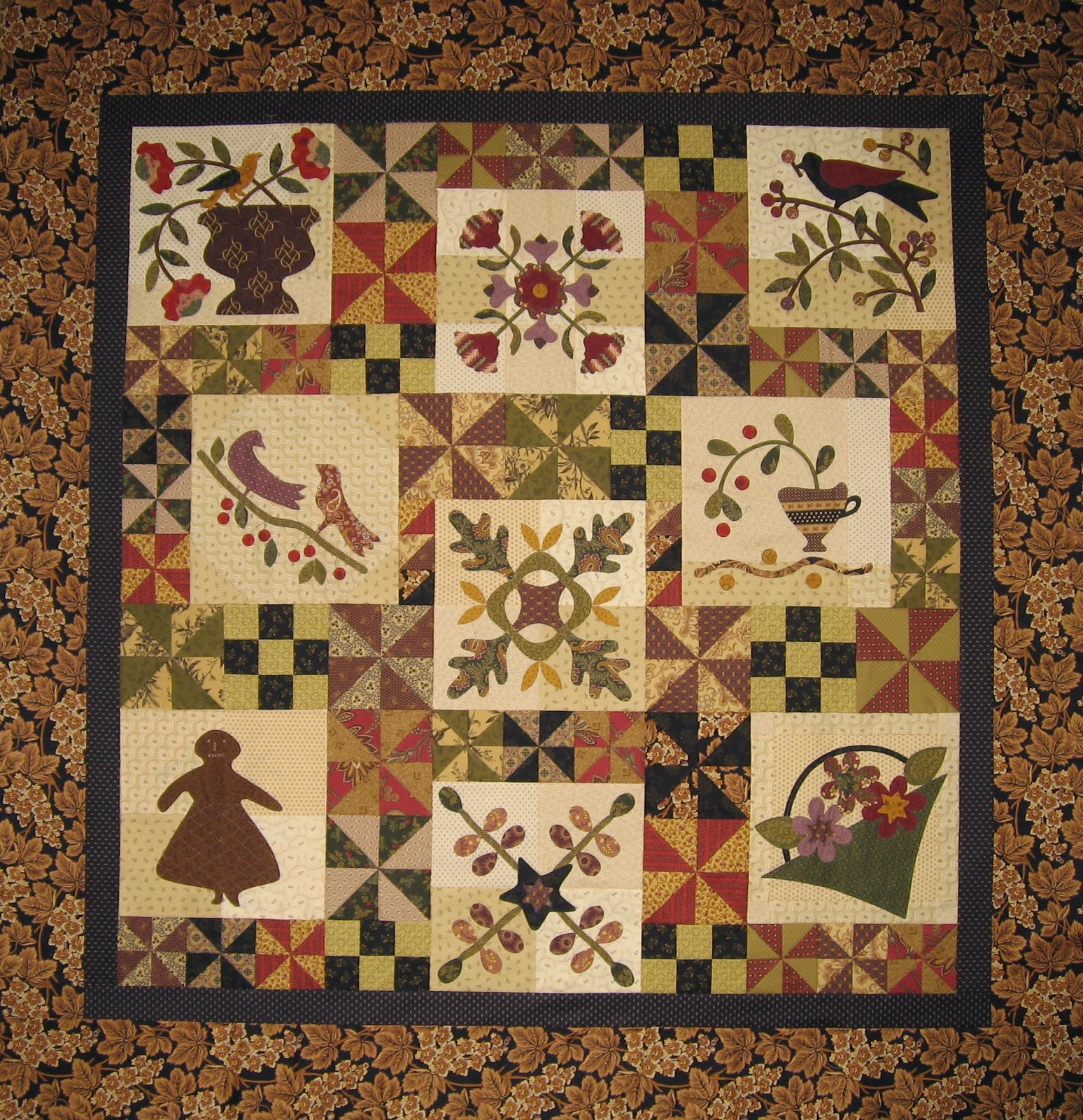 Primitive Quilts And Projects Antique Garden