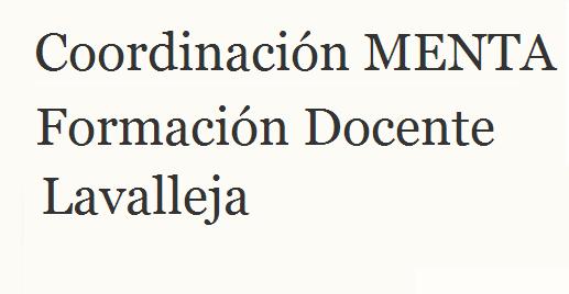 Coordinación MENTA Formación Docente. Lavalleja