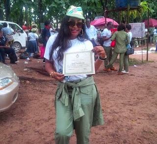 Nollywood Diva Nuella Finishes her Nysc.