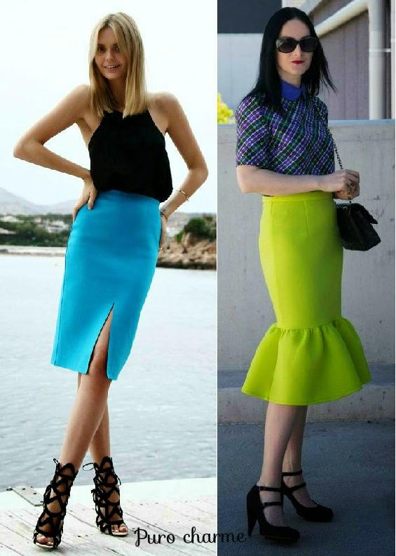 Saia lapis-saia sino-saia com babado-fashion-modelos-de-saias-Saia Neoprene-modelo de saia-modelos de saias-saias da moda-saia de neoprene-saias neoprene-saias femininas-saias de neoprene-saia preta-saia rodada-saia-sino-saias curtas-saia curta-roupas-femininas-moda verão 2015-neoprene-looks em neoprene-look com saia-Neoprene Skirt