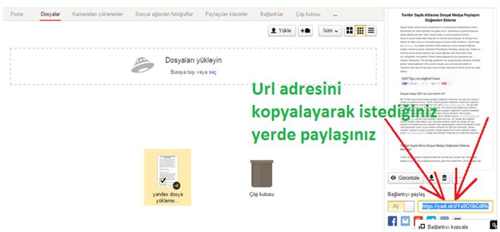 Yandex Diske Dosya Nasıl Yüklenir ve Paylaşılır