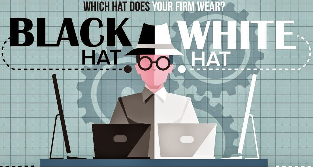 black hat and white hat seo photo.