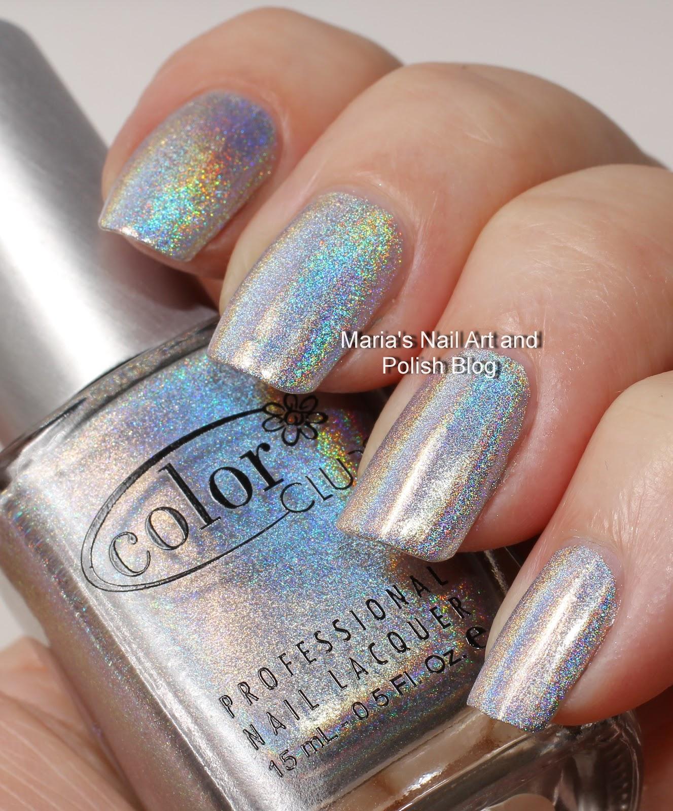 Color Club Holographic Nail Polish Swatches: Marias Nail Art And Polish Blog: Color Club Halo Hues Harp