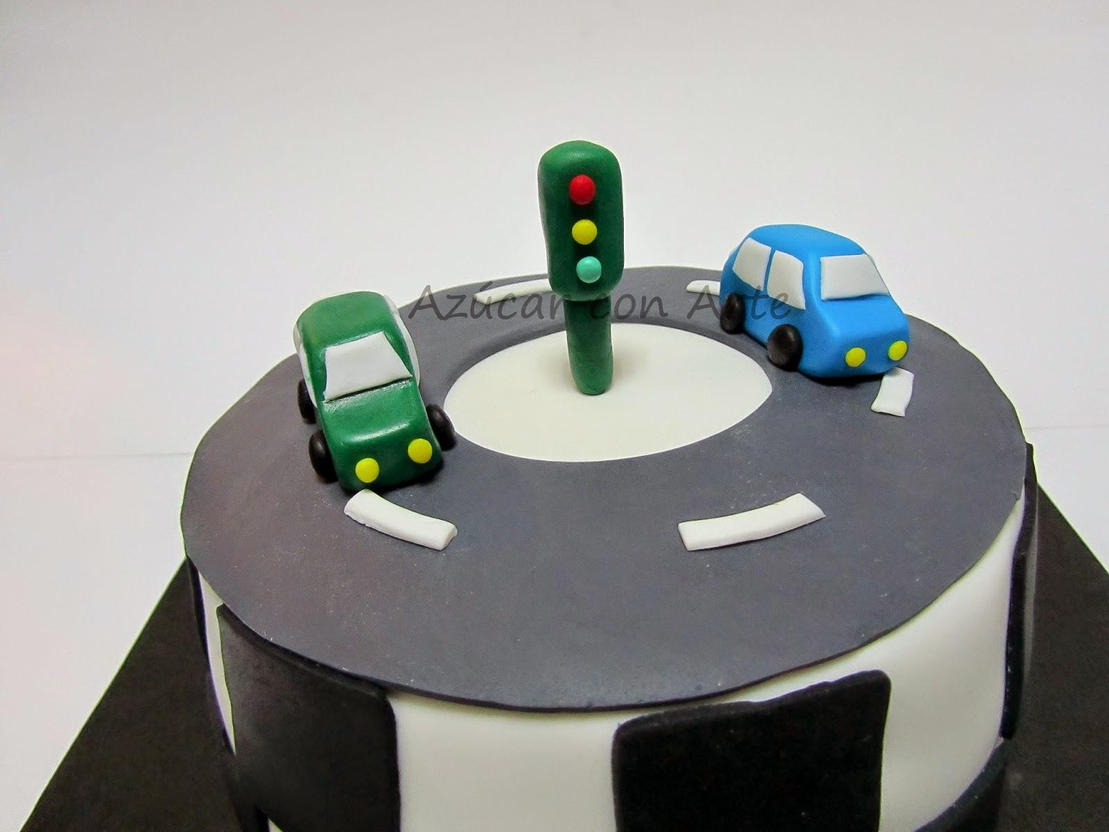 tarta coches, car cake, tarta sin gluten, gluten free cake, tarta fondant | azucar con arte